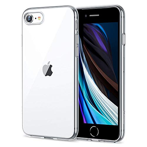 ESR Coque pour iPhone Se 2020, Coque Transparente Gel Silicone TPU Souple, Bumper Housse Etui de Protection pour iPhone Se 2020, iPhone 8, iPhone 7 de 4,7' (Transparent)