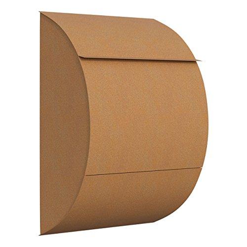 Briefkasten, Design Wandbriefkasten Jumbo in Rost - Bravios