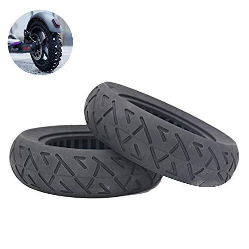 SLRMKK Electric Scooter Tires, 10 Inch Hollow Solid Tires 10X2.25/2.50 Free Pneumatic Tires Electric Scooter Explosion Proof Tires