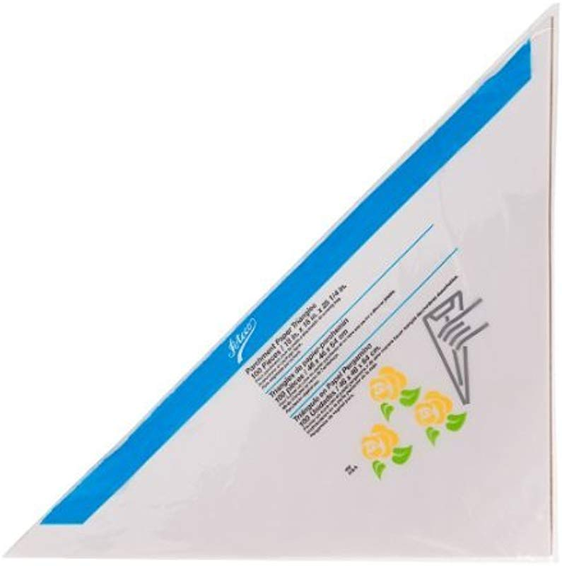 Ateco 452 Large Parchment Triangle 100 Pack