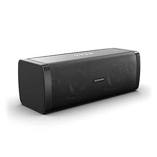 DOCKIN® D FINE Hi-Fi Bluetooth Speaker - Lautsprecher für Indoor/Outdoor, Wireless, einfach tragbar, wasserdicht, 50 Watt, schwarz