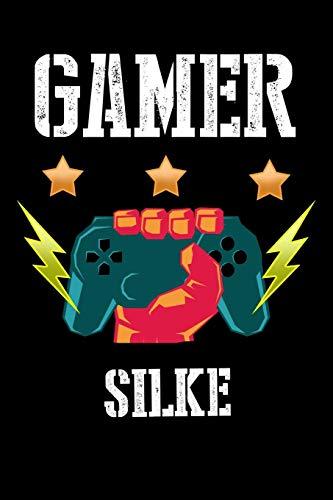 Gamer Silke: Kariertes Notizbuch mit 5x5 Karomuster für deinen personalisierten Vornamen