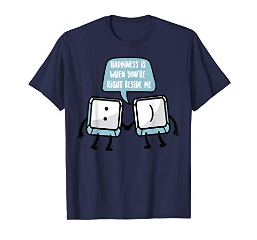 Cute Keyboard Smile Funny Typist Keypad Emojis Smiley Gift T-Shirt