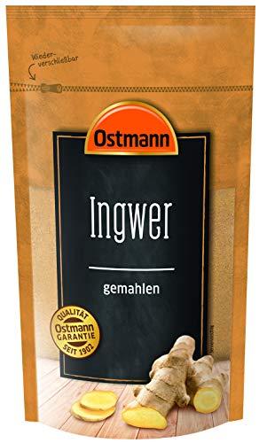 Ostmann Ingwer gemahlen 225 g, feines Ingwerpulver, gemahlene Ingwer-Wurzel, gesund & heilend, für süße & salzige Speisen