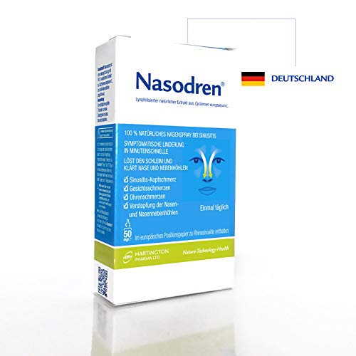 Nasodren: Nasenspray zur Linderung der Symptome einer Nasennebenhöhlenentzündung
