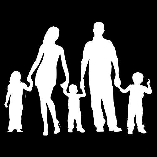 Zemn Sticker Mural Mural Famille Personnalité Combiné Autocollants De Voiture Élégante Couverture De Voiture Scratch Décoratif Stickers Accessoires @ B
