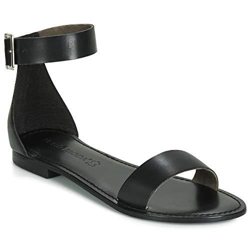 Vero Moda VMELSA Leather Sandal, Mocassino Donna, Nero, 38 EU
