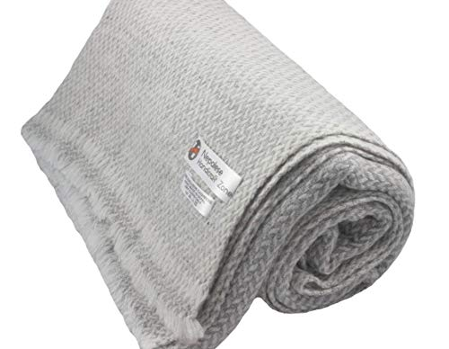 """Himalayan Cashmere Throw,Natural Cashmere Blanket 54"""" x 108"""",Hand Made in Nepal"""