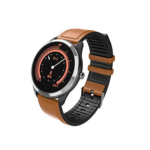 JXFF F11 Bluetooth Smart Watch Color Screen Men and Women Rate Cardy Rate Sleep Sports Impermeable Multifuncional Smart Watch para Android iOS,D