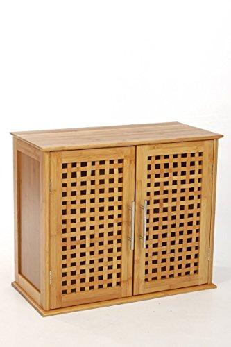Eminza Mobile da Fissare al Muro in bambù, dispone di 2Ante