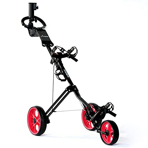 Big Max Xtreme Rider 3 Wheel Black Golf Trolley (FREE UMBRELLA HOLDER)