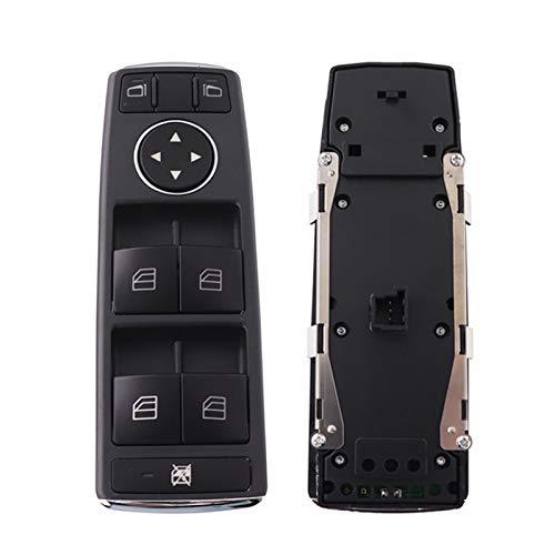 Interruptor de ventana delantera izquierda unidad lateral maestro ventana interruptor botón A2049055302 ajuste para Mercedes-Benz C Clase E C250 C300 C350 C63 E350 E550 E250