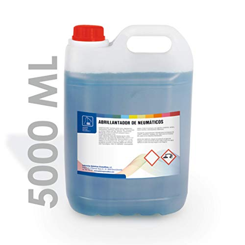 IQG Limpiador Abrillantador de neumáticos, plásticos y Gomas Exteriores. Limpia, hidrata y restaura. 5L.