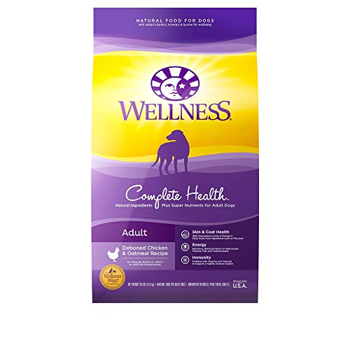 Wellness Complete Health Natural Dry Dog Food, Chicken & Oatmeal, 30-Pound Bag