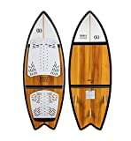 Ronix Koal Classic Fish Wakesurf Board - Maple/White/Black - 5'