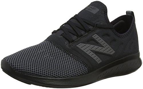 New Balance Men's Coast V4 FuelCore Running Shoe, Black, 10.5 D US