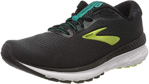 Brooks Adrenaline GTS 20, Zapatilla De Correr Hombre, Black/Lime/Blue Grass, 42.5 EU