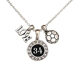 Silver Custom Player Jersey ID Soccer Necklace