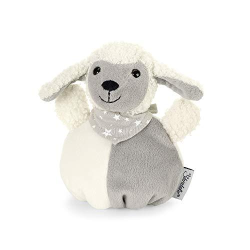Sterntaler Mini-Peluche Boule Mouton Stanley, Âge : Enfants À Partir de la Naissance, 12 x 11 x 7 cm, Blanc/Gris