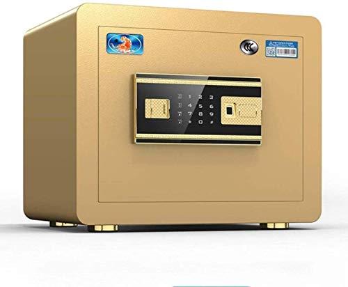 YLJYJ Huella Dactilar Hogar Ladrón Inteligente Mini Oficina Acero Nuevos casilleros Caja Fuerte (Tamaño: 38 * 30 * 30 cm)