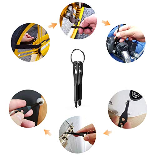 Keychain Screwdriver Tool Gifts for Men, Kusonkey 4-in-1 Screwdriver bit with Phillips, Slotted and Hex Wrench,Christmas Gifts for Men,DIY Handyman,Electrician,Father/Dad,Husband, Boyfriend,Him,Women