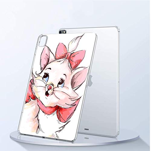 Pnakqil Funda para iPad Pro 12.9 2020 Transparente Silicona con Dibujos Piel Gel TPU Carcasa Protectora Diseño Ultra Fina Suave Case [Antigolpes] Fundas para Apple iPad Pro 12.9 2020, Gato