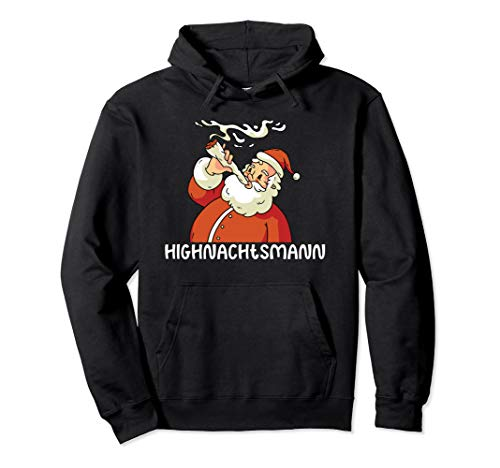 Lustiges Highnachtsmann Marihuana Weed Geschenk Pullover Hoodie