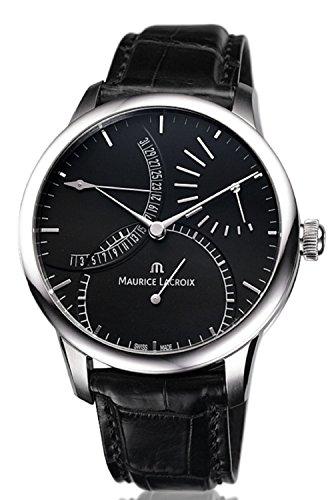 Maurice Lacroix Maurice Lacroix Meisterwerk Schwarz Zifferblatt Mens Watch MP6508-SS001-330