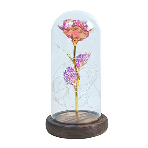 Seguire Artificial Rose Light LED Flower Night Motion Lamp Indoor Decorative Lighting Artificial Rosewood Base Night Light Bedroom Desk Lamp Desktop Decoration