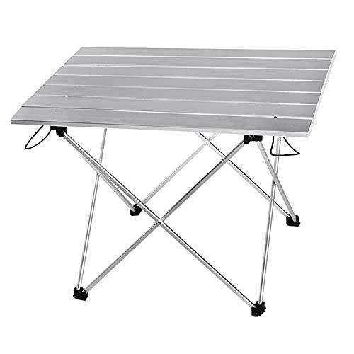 Escritorio de aleación de Aluminio Muebles ultraligeros portátiles Mesa de Camping Plegable Mesa de Comedor Plegable al Aire Libre Muebles de Interior al Aire Libre - Tamaño L Gris, d122