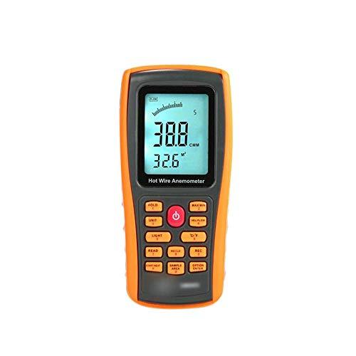 KAIBINY Anemómetro Digital Interfaz Anemómetro Digital Display térmica del Viento del anemómetro de medición de Temperatura del Aire del USB