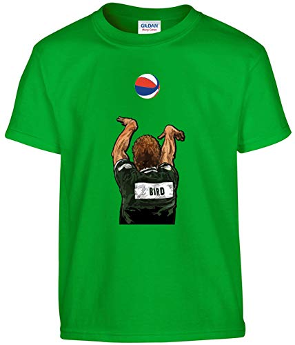 Shedd Shirts Green Boston Larry Legend 3 Point Contest T-Shirt Youth Small