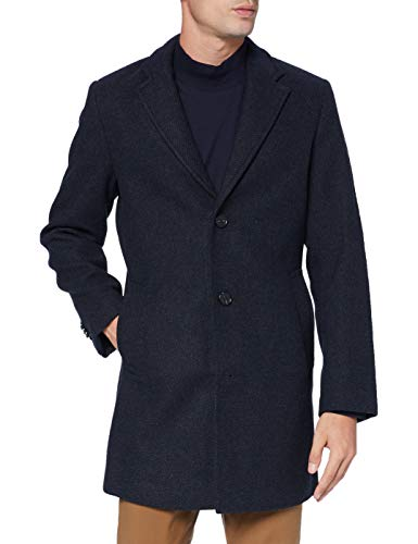 Tom Tailor Wolle 3 Knopf Giacca, 24258-Navy Blue Structure, XL Uomo