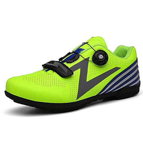 BHC Zapatos De Bicicleta MTB Zapatilla con Suela De Caucho Y Triple Tira De Velcro Unisex Adulto