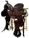 Selle western sans Coton Kansas en cuir de buffle marron, 15' (38,1 cm)