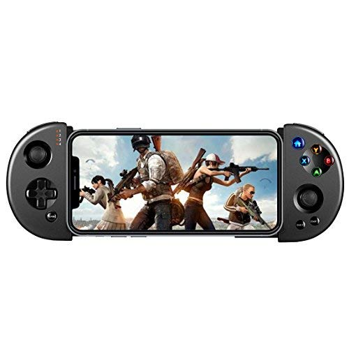 Wireless Android/iOS Game Controller, Retractable Telescopic PUBG Mobile Controller Joystick Gamepad with L3 R3 Buttons for iPhone and Android Phones