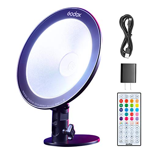 【Godox正規代理店】GODOX CL10 LEDライト10W HSI RGBマルチカラー LEDウェブキャスティング環境光 9種特殊効果 優れた冷却設計 IRリモート/APP制御可能