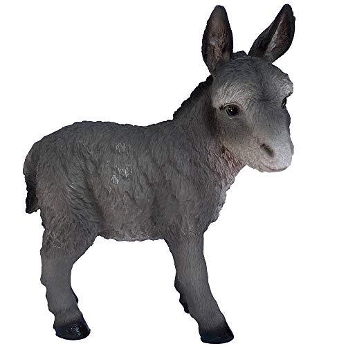 Objectz - Figur junger Esel Maultier Donkey stehend 22 cm - für Krippe Stall oder Bauernhof