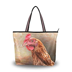Purses with chickens on them are the perfect gifts for chicken lovers