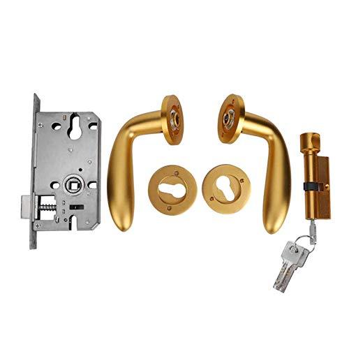 Aleación de zinc Super Silent Puerta de la puerta de la puerta de la palanca de bloqueo de la palanca de bloqueo del conjunto de cerraduras de la puerta reversible para las puertas del lado izquierdo