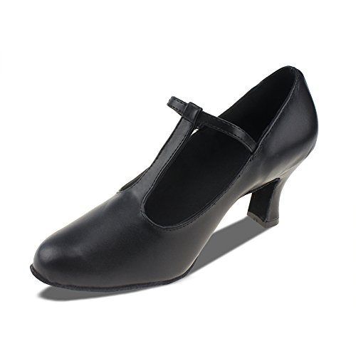 Top 10 best selling list for msmax classic black leather character dance shoes for women