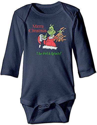 Huijiaoo Dr. Seuss Cómo el Grinch robó la Navidad Original para Escalar Ropa Infantil Mamelucos Azul Marino