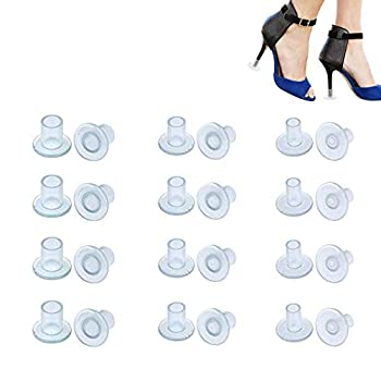 12 Pairs Clear High Heel Protectors Transprant Heel Stopers Heel Savers for Shoes  Small/Middle/Large