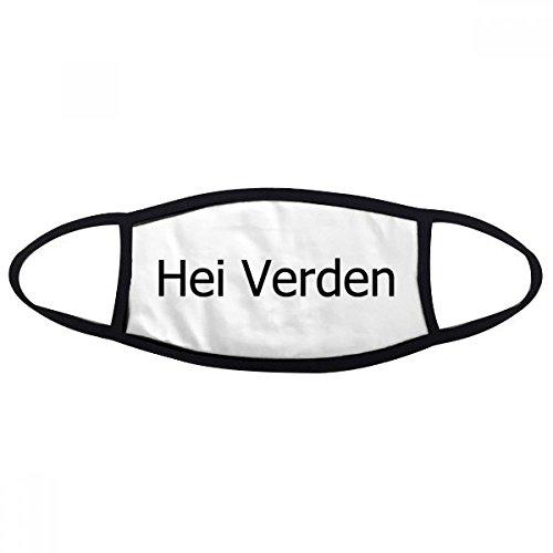 DIYthinker Hallo Welt norwegische Sprache Gesicht Anti-Staubmaske Anti Kälte Maske Geschenk