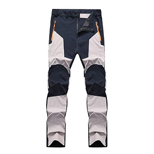 N\P Hombres impermeable secado rpido transpirable pantalones de los hombres patchwork senderismo camping pesca pantalones
