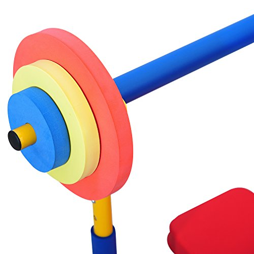 Peach Tree Fitness Exercise Equipment Indoor Outdoor for Child Kids Birstday Gift (Weight Bench Set)
