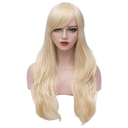 Mersi Long Rainbow Mermaid Wigs Curly Wavy Cosplay Wigs for Women Colorful Costume Wigs 27 Inch with Wig Cap