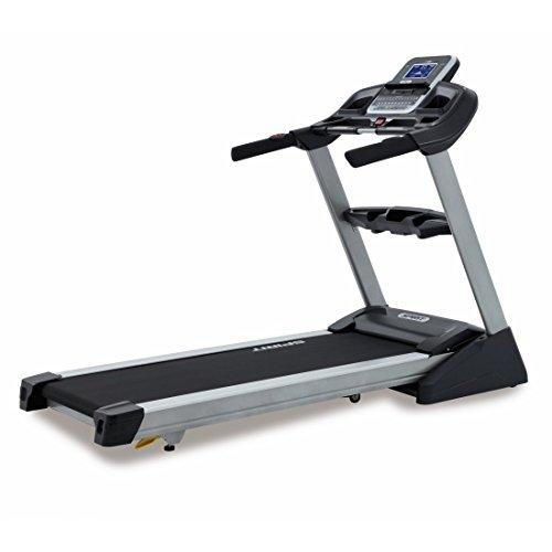 Spirit Treadmill XT 385 - Tapis roulant con 3,5 CV, 1-18 km/h, inclinazione 0-15 Level, 7,5`` LCD, Pieghevole