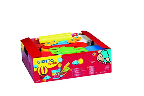 Giotto Be-Bè Pasta Para Jugar 220 G . Schoolpack 8 Uds.+Accesorios