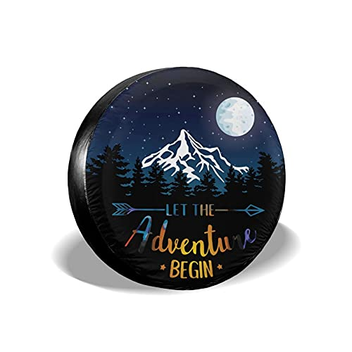 cozipink Moon Nature Mountain Forest Spare Tire Cover Weatherproof Hunting Wheel Protectors...